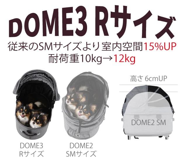 エアバギーフォーペット ドーム3 Rサイズと従来品SMサイズ比較