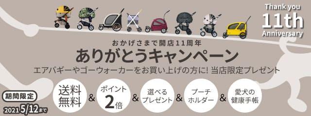 エアバキーペット・ゴーウォーカー正規取扱店イヌトゴ公式 11周年ありがとうキャンペーン☆