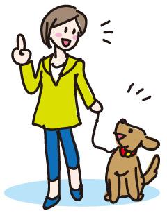 犬のお散歩/イラスト