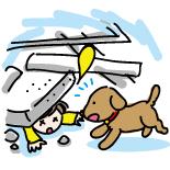 イラスト/救助犬