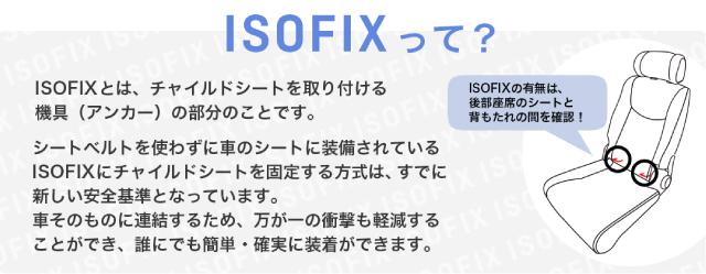 ISOFIXベルト 取付場所