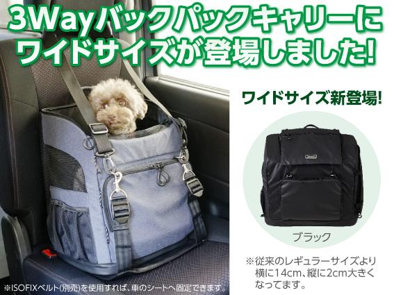 店長日記 3wayバックパックキャリーワイドサイズ発売